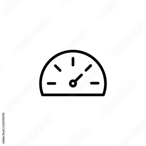 Fotografía Simple speedometer line icon.