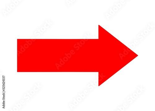 Fotomural red arrow left