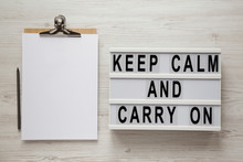 'Keep Calm And Carry On' Words...
