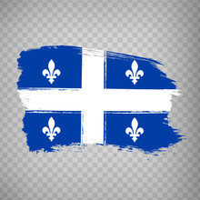 Flag Of Quebec Brush Strokes. ...