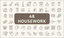 Set Of 48 Housework And Cleani...
