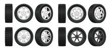 Realistic Tires. 3d Auto Tyres...