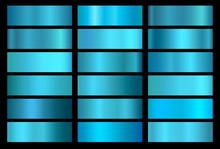 Blue Foil Texture Background S...