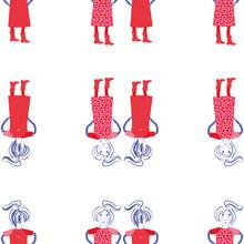 Vector Repeat Girls In Dress P...