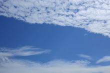 White Cloud On Blue Sky Backgr...