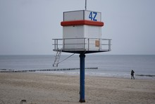 Lifesaver Tower At Baltic Sea ...