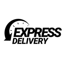 Express Delivery Icon. Black A...