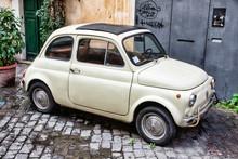 Old Fashion Car Fiat 500 On Th...