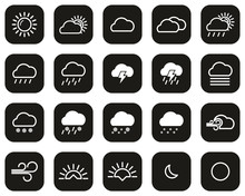 Weather Icons White On Black F...
