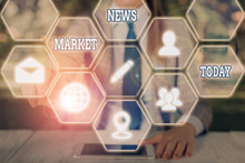 Word Writing Text Market News....