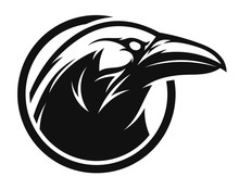 Raven Black And White Emblem