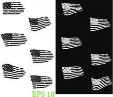USA Flag - Distressed American Flag, Set Usa Flags. EPS 10, Clip Art,