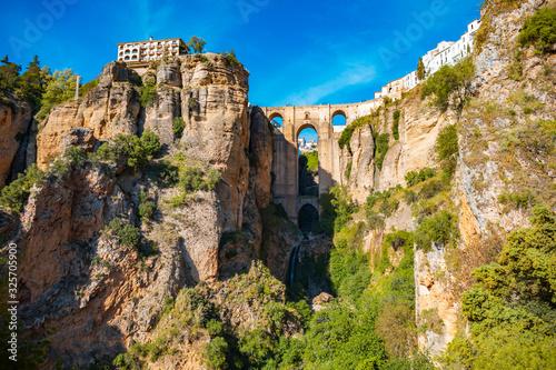 Canvas Print townscape of Ronda