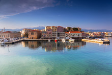 Old Venetian Port Of Chania At...