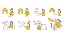 Various Inquiry Vector Illustration.