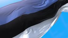 Estonia Flag Waving In Wind 4K.