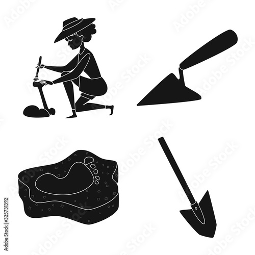 Photo Vector design of museum and attributes sign