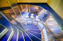 Interior Staircase On A Cruise Ship