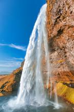 Seljalandsfoss Waterfall In Su...