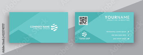 Obraz green tosca business card designs . modern, clean and simple business card template - fototapety do salonu