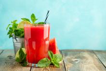 Watermelon Slushie With Lime A...