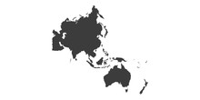 Map Of Asia Pacific. - Vector ...