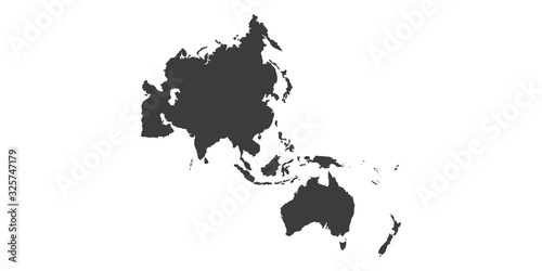 Fotomural Map of Asia Pacific. - Vector illustration