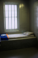 Prison Cell Interior With Bed ...