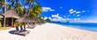 Leinwanddruck Bild - Most beautiful beaches of Mauritius island - Flic en Flac. Tropical holidays