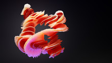 3d Frilly Abstract Organic Cor...