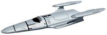 Interstellar Space Ship 3-d-Illustration (White Background)