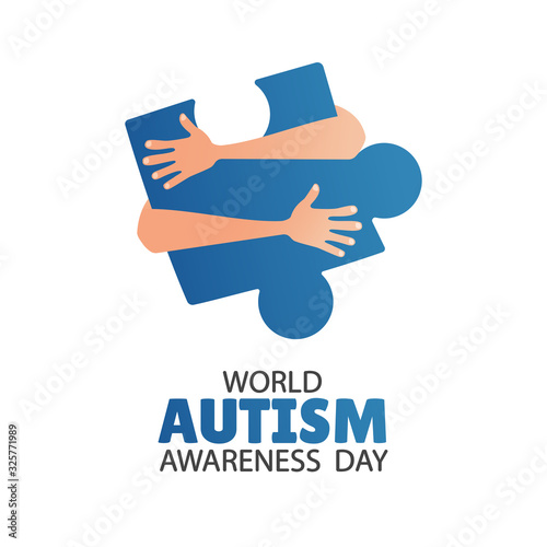 Vector illustration of World autism awareness day Canvas Print