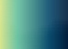 Blue Green Dot Halftone Gradient Background.