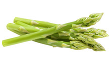 Asparagus Isolated On White Background, Clipping Path, Full Depth Of Field