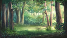 Light And Forest - Day , Anime...