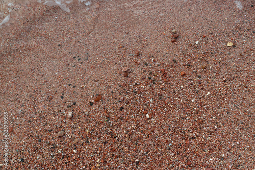 Red Sand and Stones of the red Sea Coast, Natural Texture Background Canvas-taulu