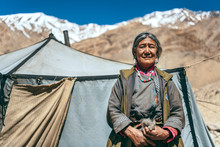 Nomadic Old Woman. They Live F...