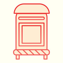 Mailbox Line Icon. Mail Postage Letterbox. Postal Service Vector Design Concept, Outline Style Pictogram On White Background, Use For Web And App. Eps 10.