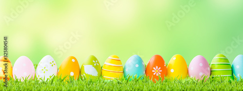 Easter background concept. Canvas Print