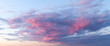 canvas print picture - Sunset sky with clouds