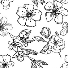 Seamless Pattern Of Flowers An...