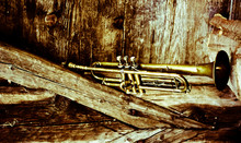 An Old Jazz Trumpet In An Old ...
