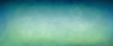 Gradient Blue Green Background With Soft Old Border Texture, Elegant Abstract Design In Pretty Teal And Turquoise Colors