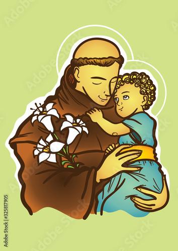 Photo Saint Anthony of Padua or Saint Anthony of Lisbon