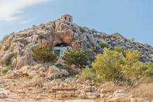 Ayioi Saranta Cave Church, Protaras, Cyprus. The Church Is Aslo Known As Saranta Martyres, Forty Martyrs Or Holy Forty Church.