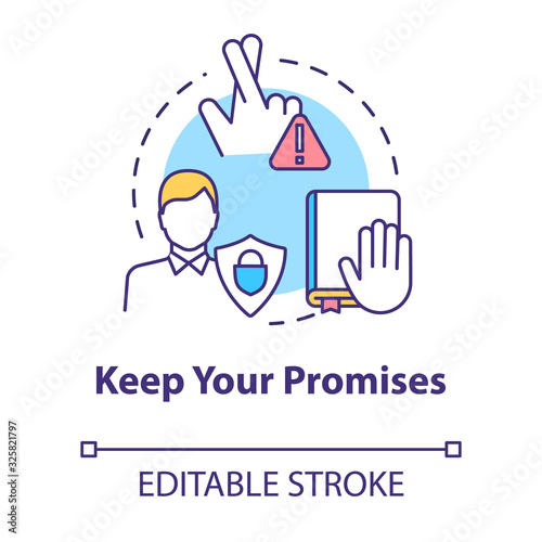 Keep your promises concept icon Canvas Print