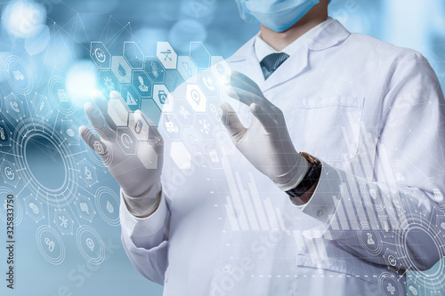 Fotomural The concept of innovative information technology in medicine.