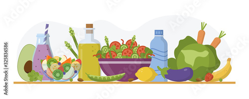 Photo Alkaline diet concept