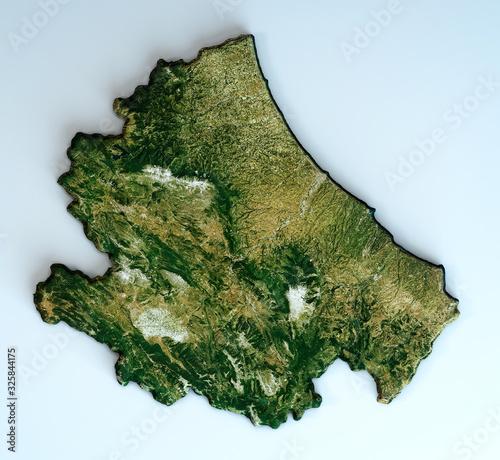Photo Satellite view of the Abruzzo region