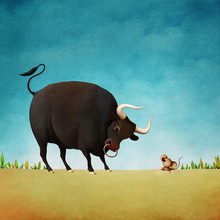 Illustration For Aesop's Fable...